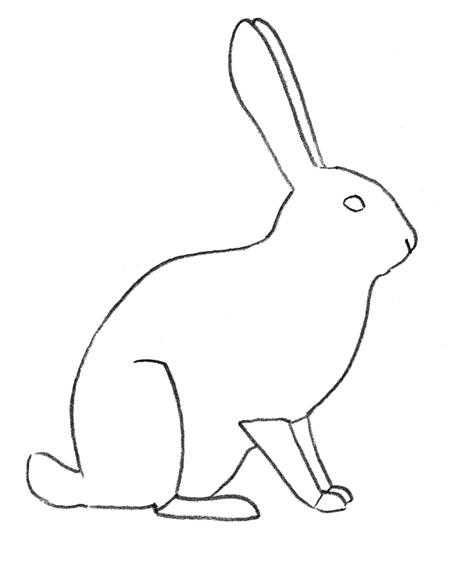 Рисуем зайца - шаг 2