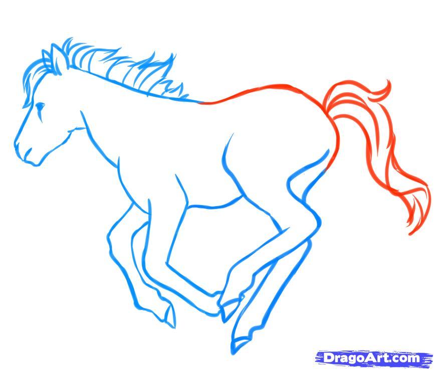 Рисуем пони в движении - шаг 6