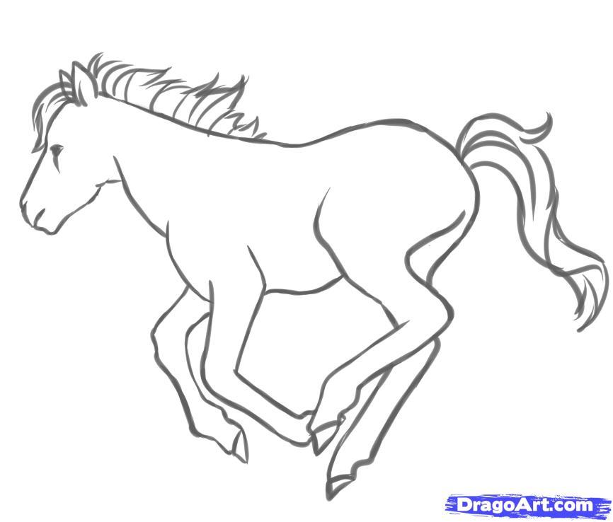 Рисуем пони в движении - шаг 7