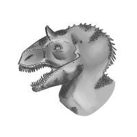 голову динозавра карандашом
