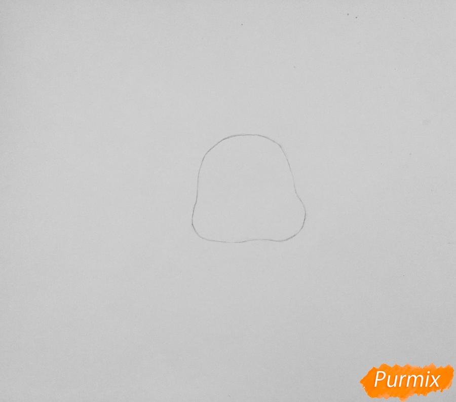 Рисуем маленького крольчонка - шаг 1