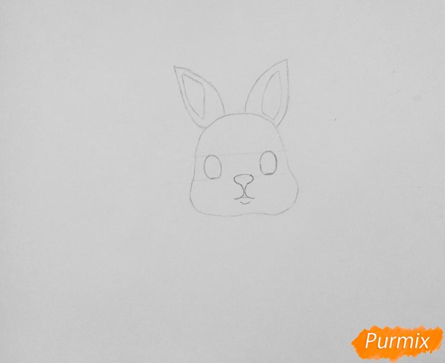 Рисуем маленького крольчонка - шаг 2