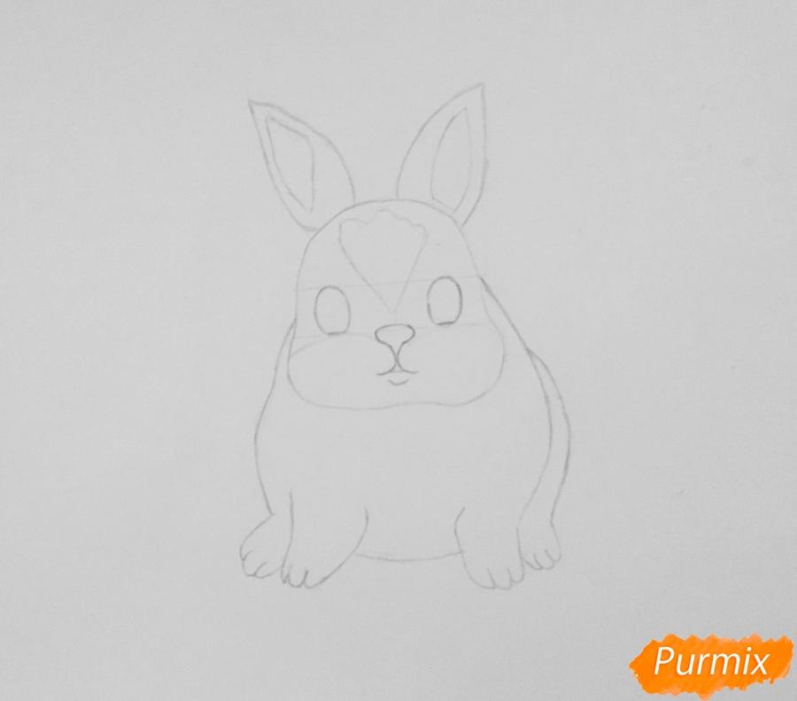 Рисуем маленького крольчонка - шаг 3