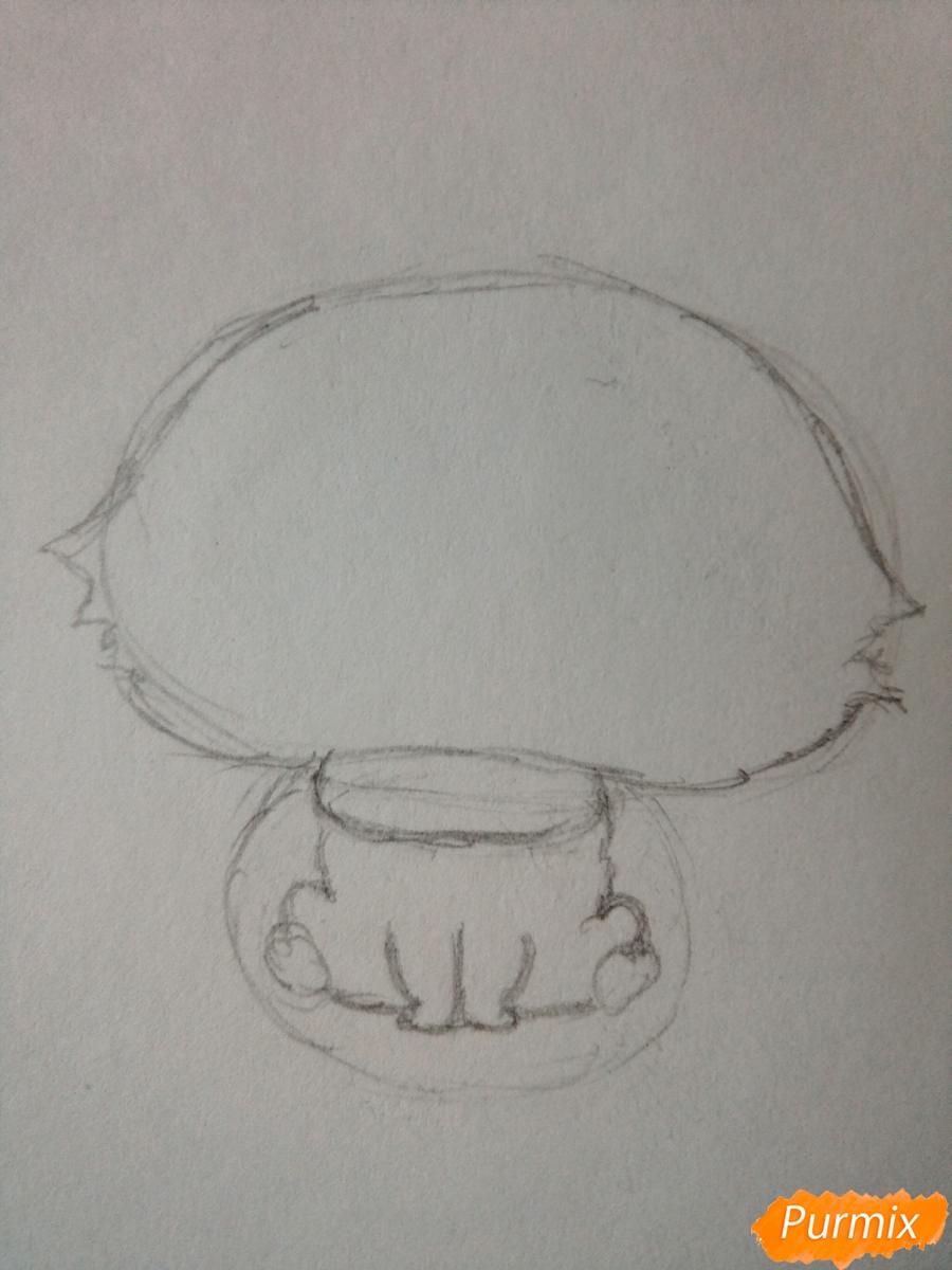 Рисуем милого чиби олененка карандашами - шаг 2