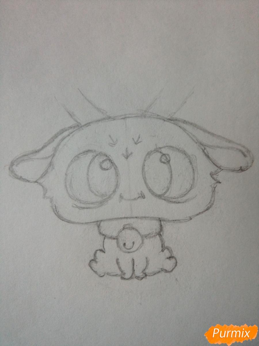 Рисуем милого чиби олененка карандашами - шаг 4