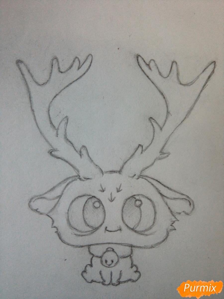 Рисуем милого чиби олененка карандашами - шаг 6