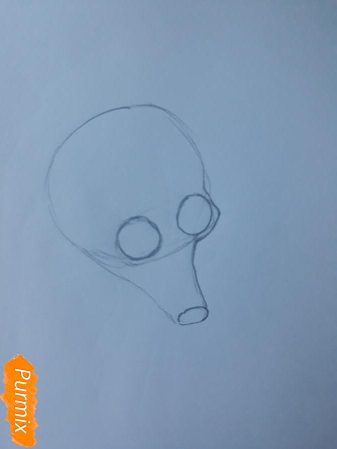 Рисуем мультяшную собаку карандашами - фото 2