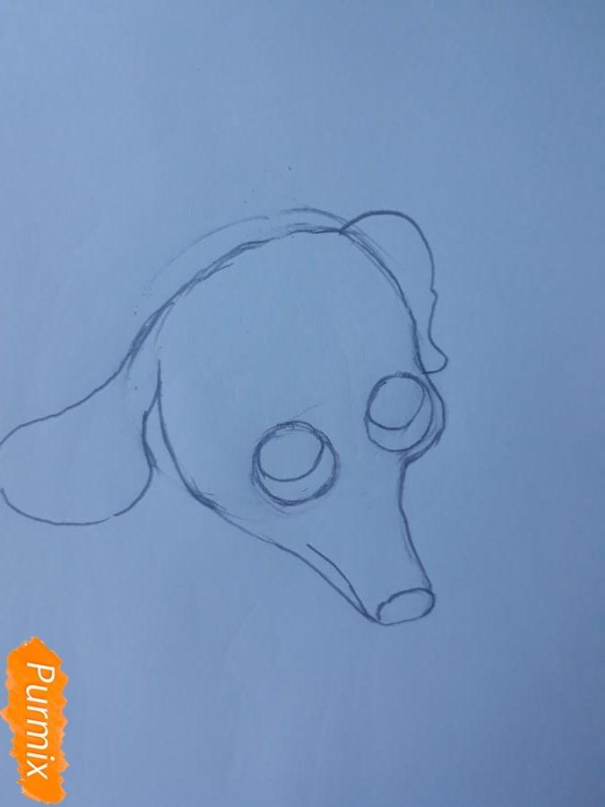 Рисуем мультяшную собаку карандашами - фото 3