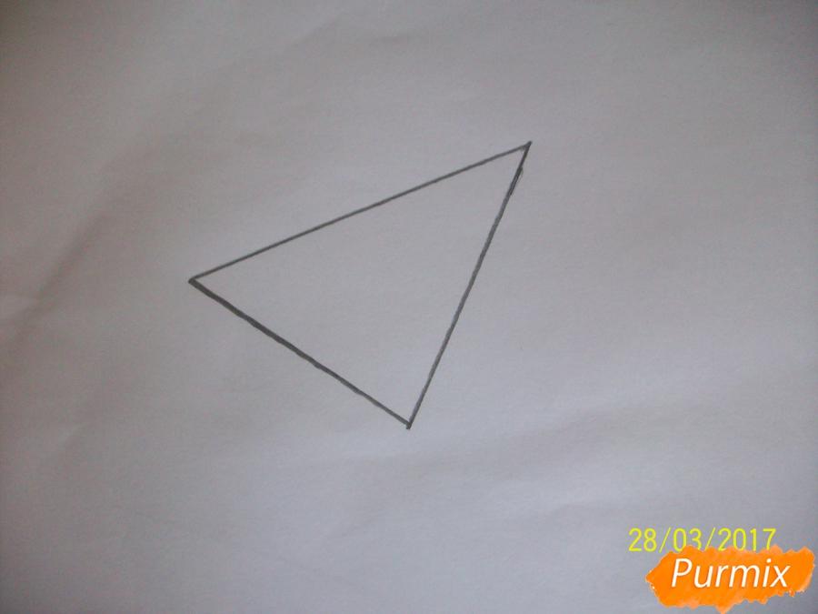 Рисуем панду из геометрических фигур ребенку - шаг 1