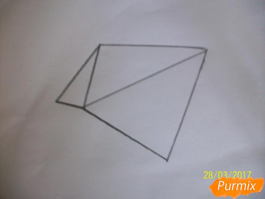 Рисуем панду из геометрических фигур ребенку - шаг 2