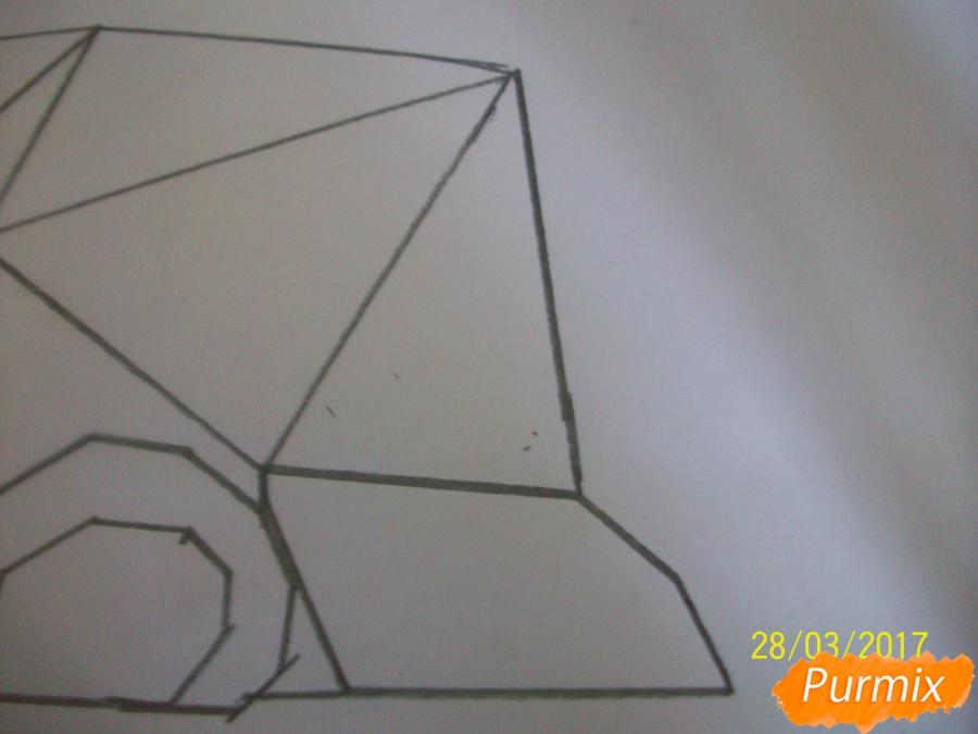 Рисуем панду из геометрических фигур ребенку - шаг 4