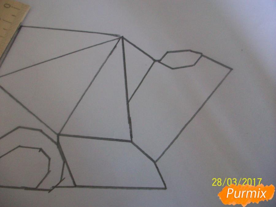 Рисуем панду из геометрических фигур ребенку - шаг 5