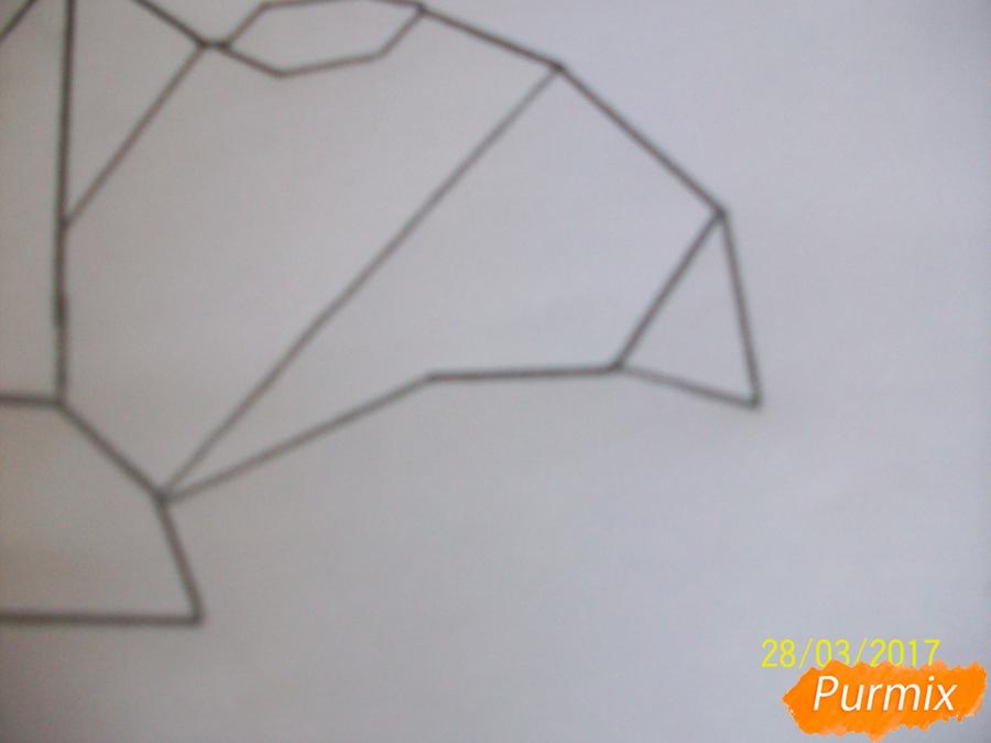 Рисуем панду из геометрических фигур ребенку - шаг 6