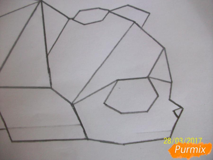Рисуем панду из геометрических фигур ребенку - шаг 7