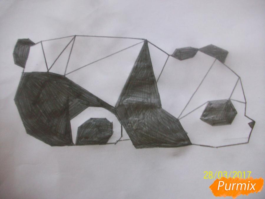 Рисуем панду из геометрических фигур ребенку - шаг 8