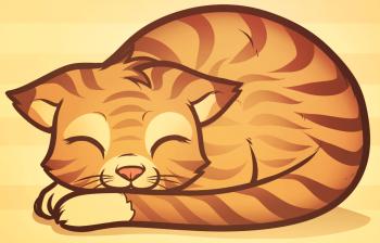 Рисуем спящего котенка