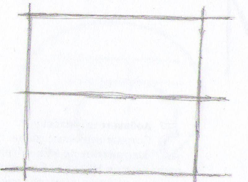 Рисуем кота карандашами  для начинающих - шаг 1