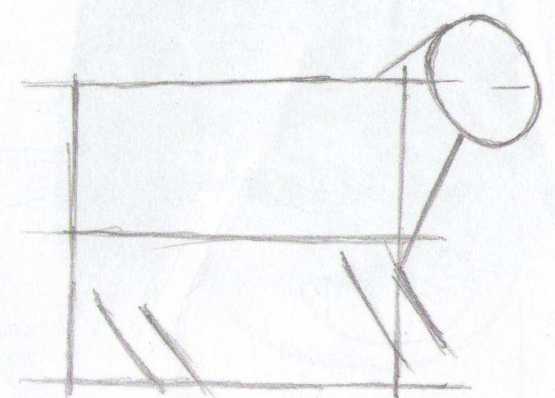 Рисуем кота карандашами  для начинающих - шаг 3
