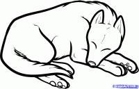 спящую собаку карандашом
