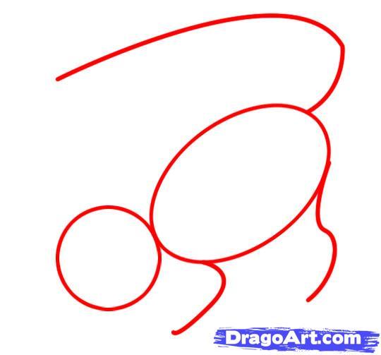 Рисуем Аллигатора - шаг 1