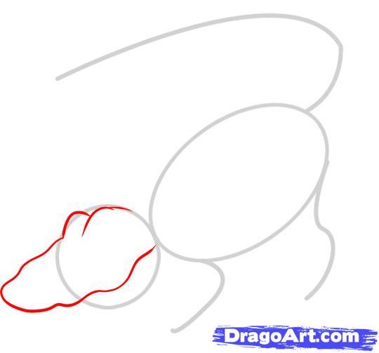 Рисуем Аллигатора - шаг 2