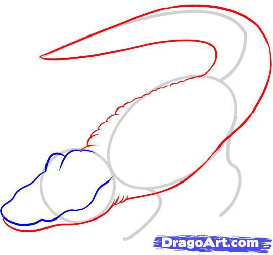 Рисуем Аллигатора - шаг 3