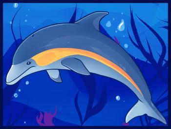 Как нарисовать дельфинов карандашом поэтапно