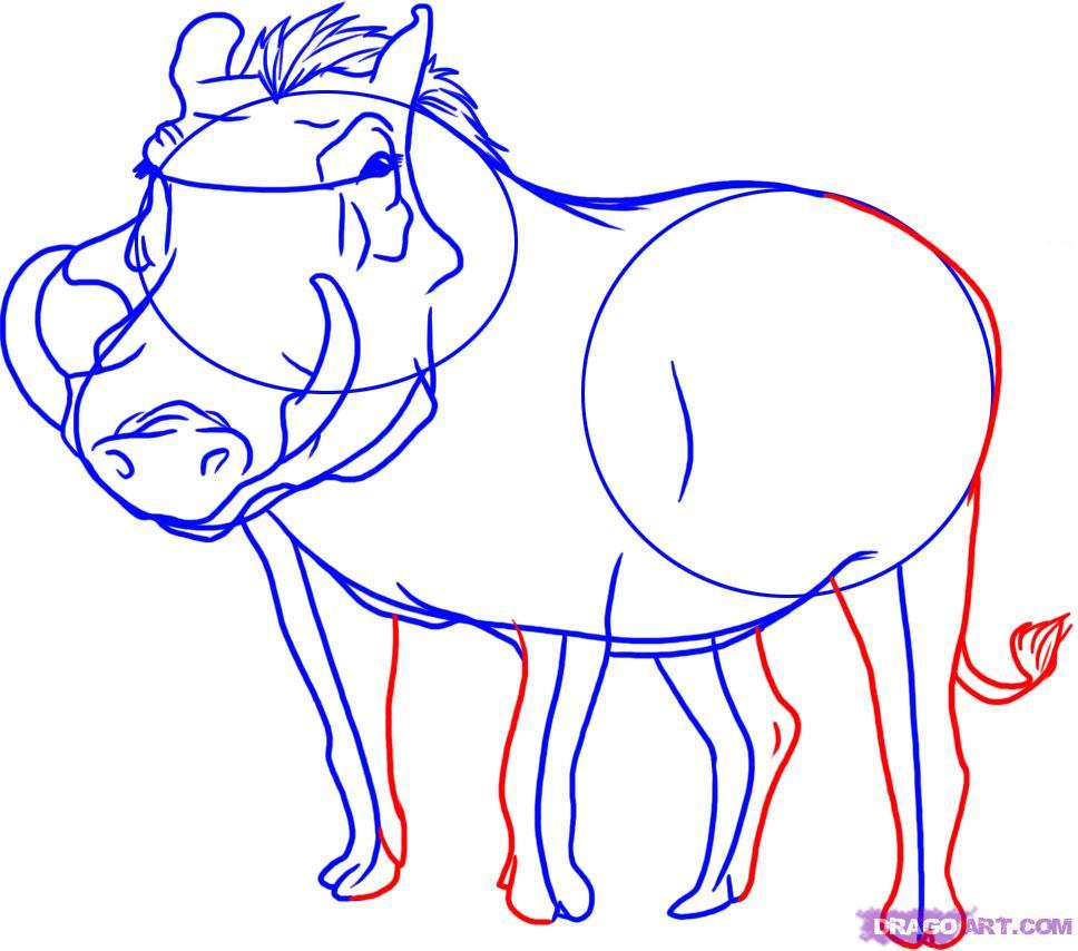 Рисуем дикую Свинью в полный рост - фото 5