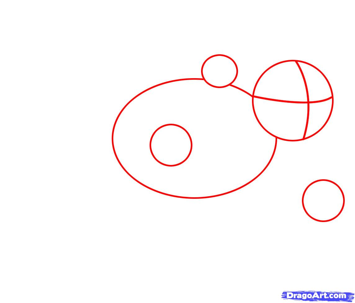 Рисуем енота - шаг 1