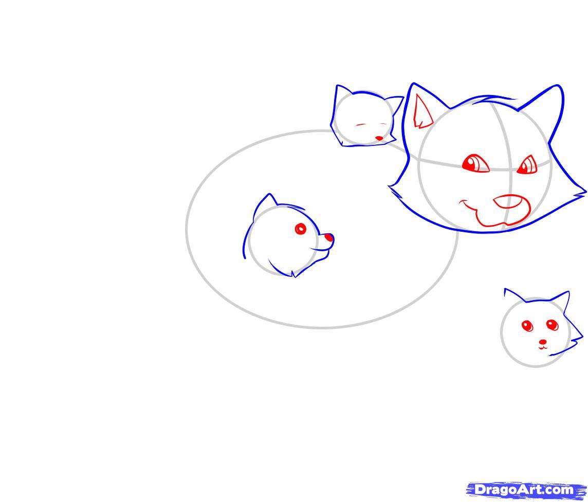 Рисуем енота - шаг 3
