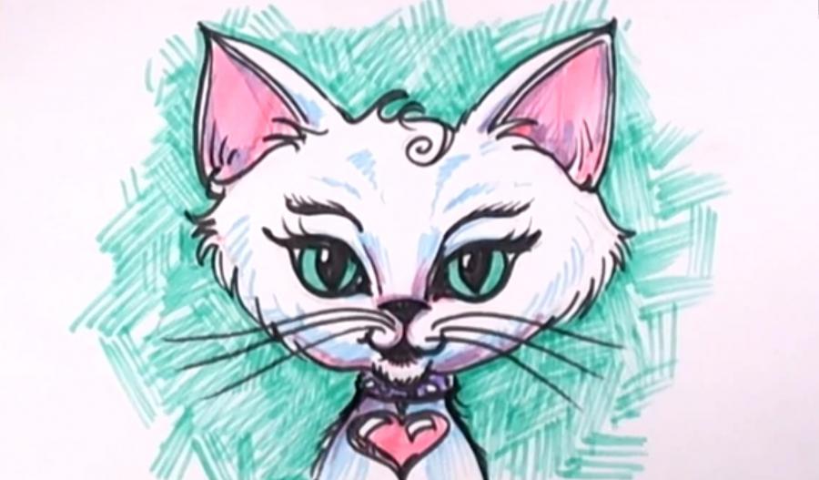 Раскраски про супер кота