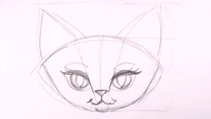 Рисуем фентези кошку
