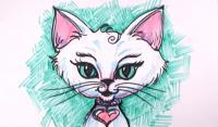 Как нарисовать фентези кошку карандашом поэтапно