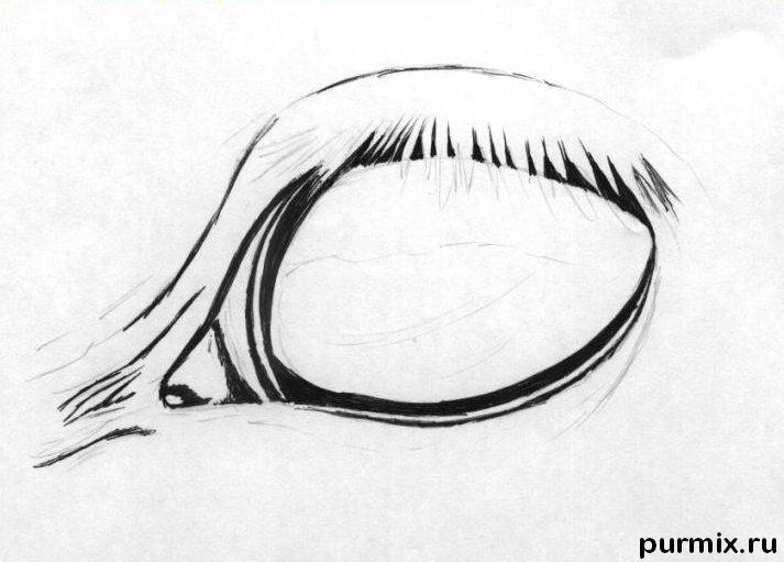 Рисуем глаз лошади простым
