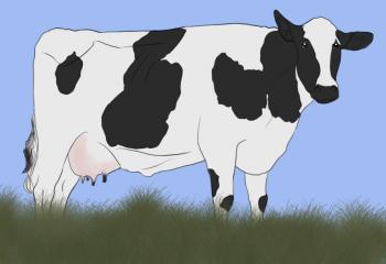 корову карандашом