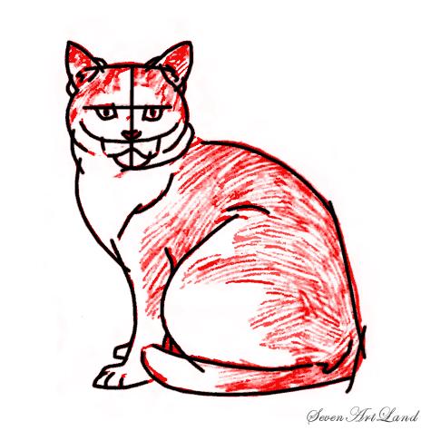 Как нарисовать кошку породы
