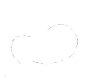 Рисуем лесного канадского оленя - шаг 1