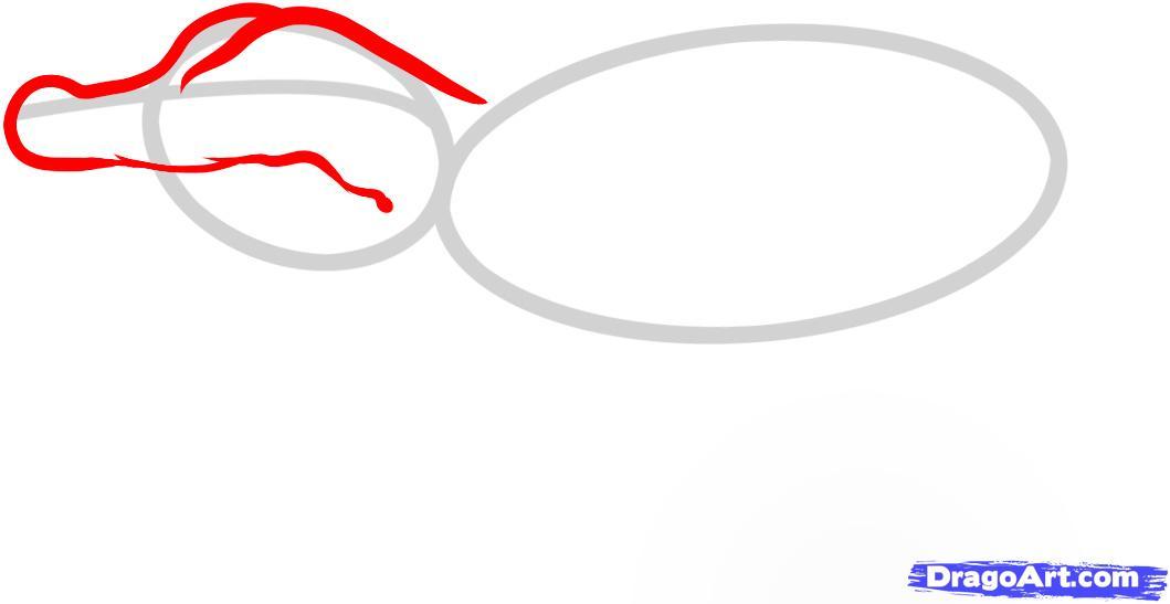 Рисуем маленького Крокодильчика - шаг 2