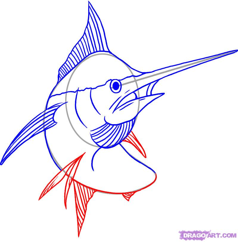 Рисуем Меч-рыбу