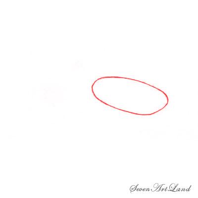 Рисуем молотоголовую акулу - шаг 1