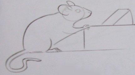 Рисуем мышку - шаг 2