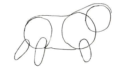 Как просто нарисовать льва - шаг 2