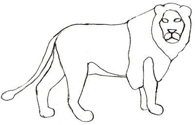 Как просто нарисовать льва - шаг 5