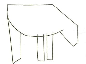 Как просто нарисовать осла