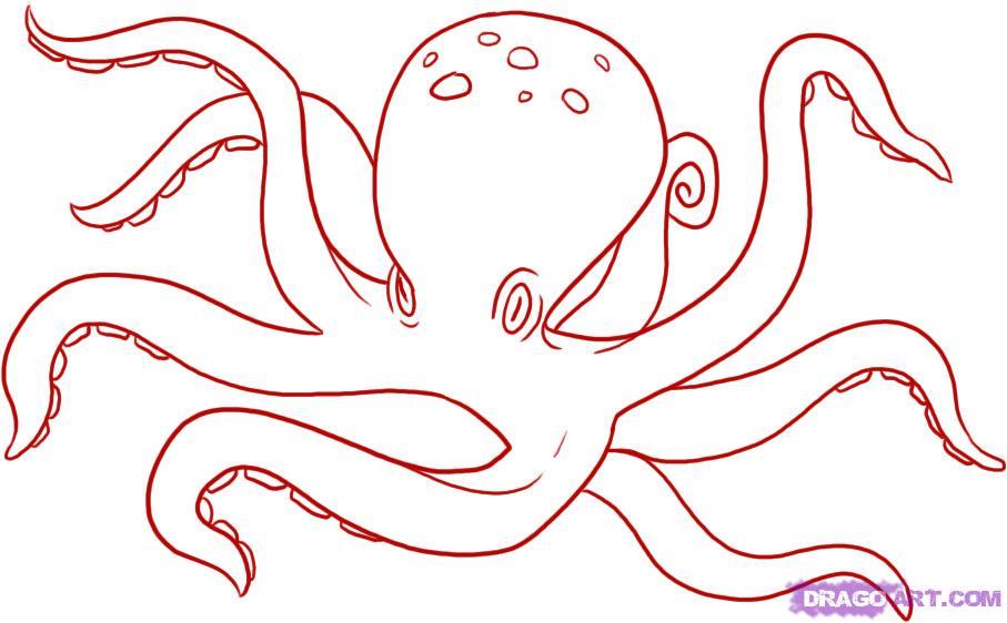 Рисуем осьминога карандашами - фото 5