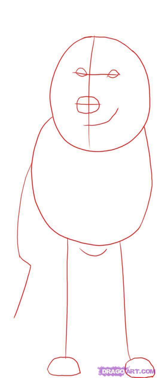 Рисуем овчарку   для начинающих - шаг 1
