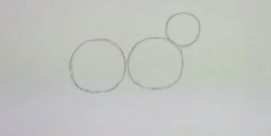 Рисуем овцу простым  на бумаге - шаг 1
