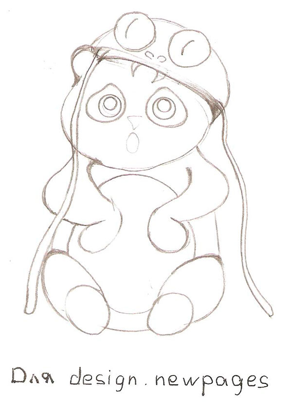 Рисуем милую панду - фото 3