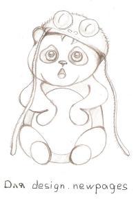 Как нарисовать Панду карандашом поэтапно