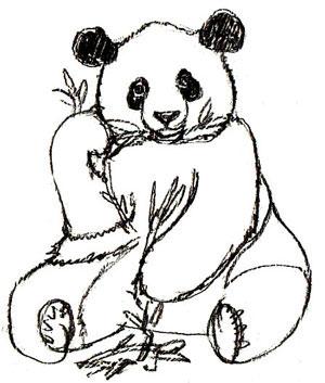 Рисуем сидящую панду - фото 5